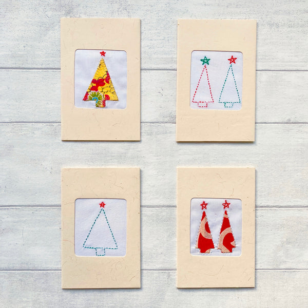 Assorted Handmade Christmas Cards - Pack of 4