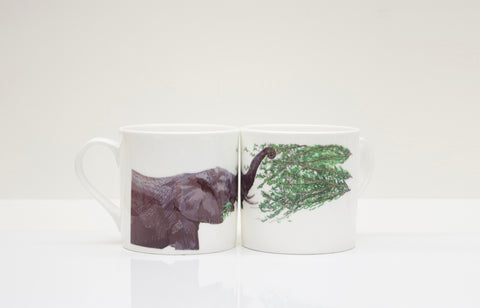 Elephant Bone China Mug