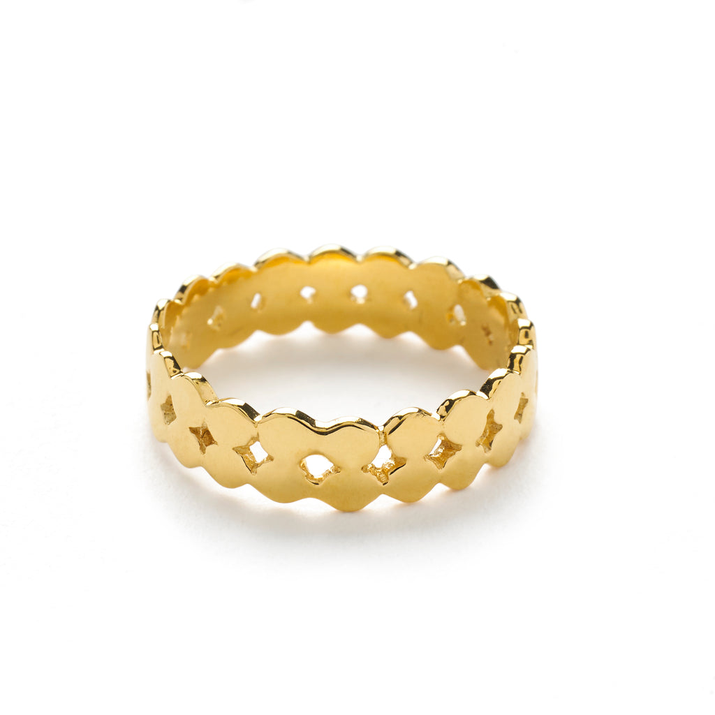 Praniti Double Layer Ring - Gold
