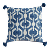 Indigo Block Printed Honeycomb Cushion Cover