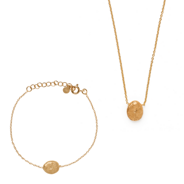 Jaya Bracelet & Necklace Set - Gold