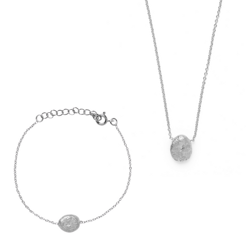 Jaya Bracelet & Necklace Set - Silver