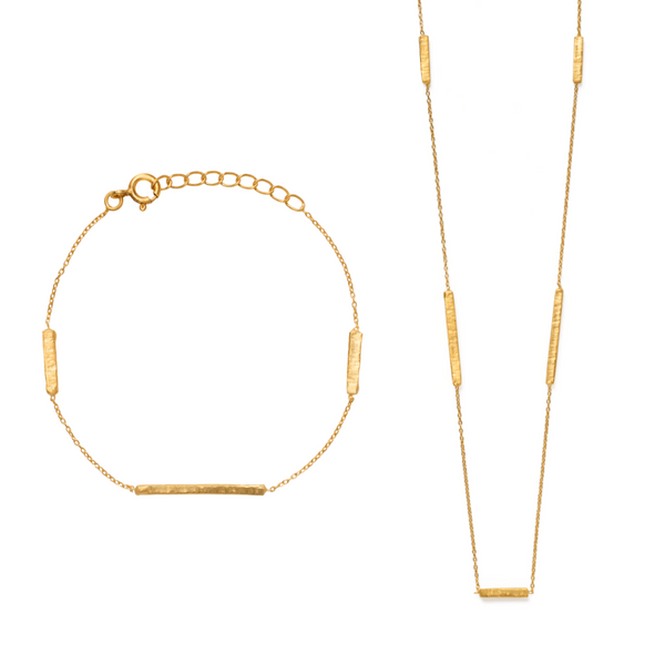 Madhu Bracelet & Necklace Set - Gold