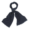 Navy Blue Handloomed 100% Fine Wool Scarf