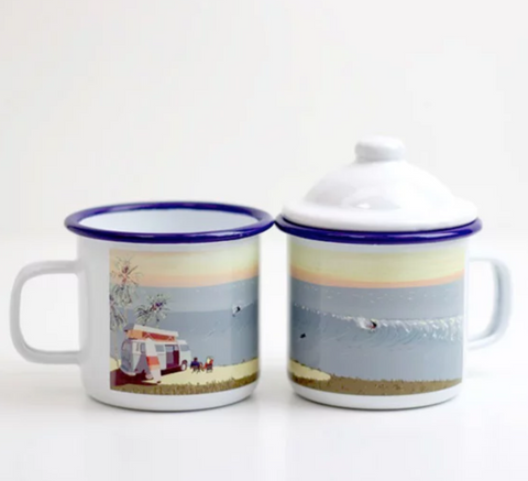 Weekend Explorer: Surf Enamel Mug