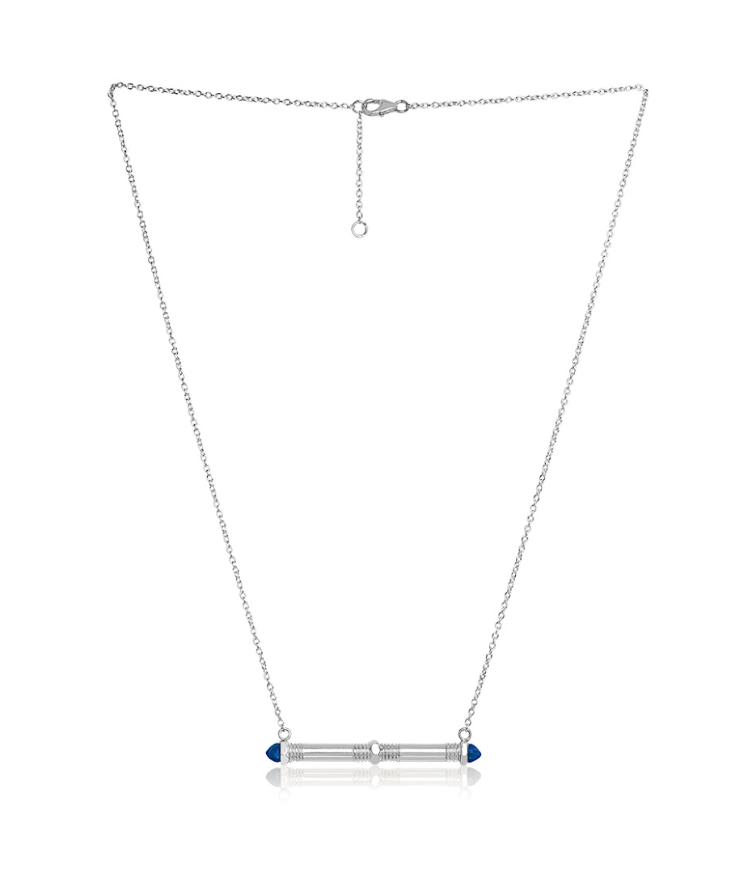 Bolt Bar Necklace - Lapis