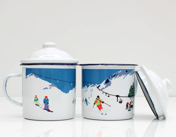 Weekend Explorer Ski Enamel Mug