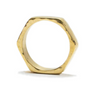 Hexagon Ring Brass