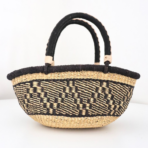 Small Special Shopper - Natural & Navy