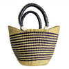 Small U Shopper - Natural and Navy
