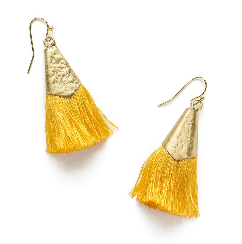 Kiara Earrings - Yellow