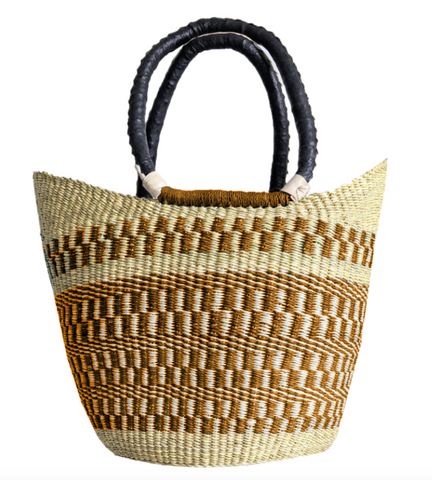 Small U-Shopper - Natural & Rust
