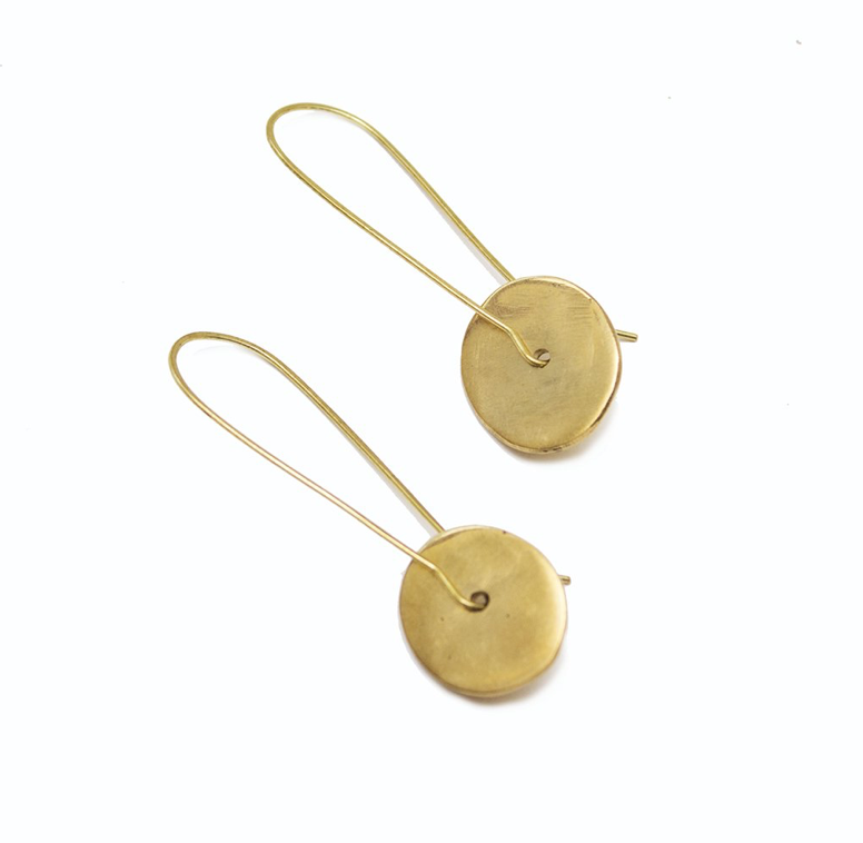 Zawadi Earrings - Brass
