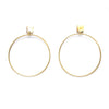 Gladiator Square Stud Hoop Earrings