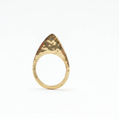 Arrow Textured Ring Brass