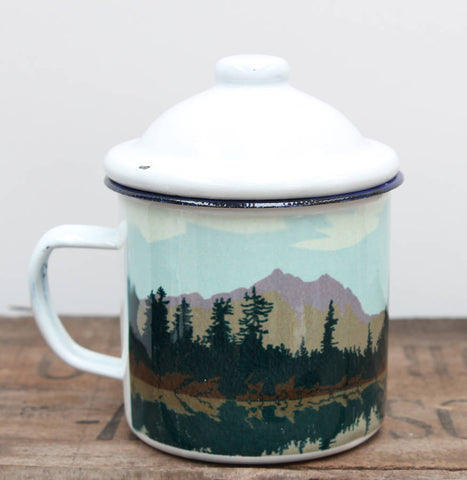 Weekend Explorer Lake Enamel Mug