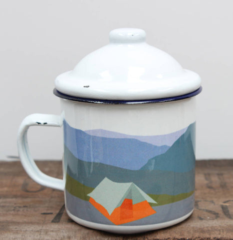 Weekend Explorer Tent Enamel Mug