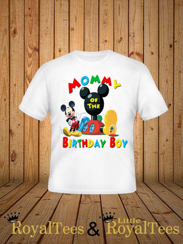 customized mickey mouse mommy of the birthday boy shirt