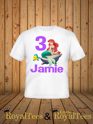 Customized Little Mermaid Birthday Shirt Custom RoyalTees