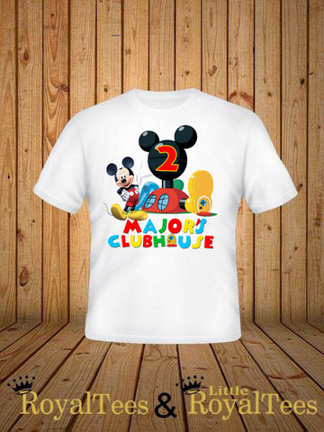 Customized Mickey Mouse Clubhouse Birthday Shirt