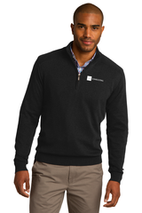 Half-Zip Mock Neck Sweater