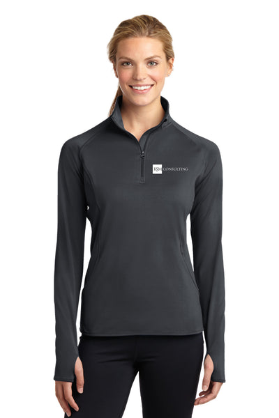 Sport-Tek® Ladies Sport-Wick Stretch 1/2-Zip Pullover