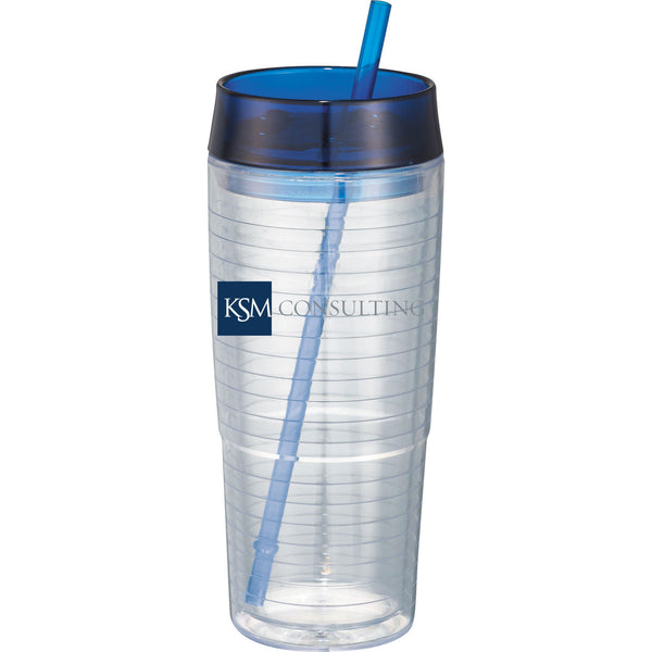 Hot & Cold Swirl Double-Wall Tumbler