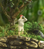 male birdwatcher terra folk pewter figurine