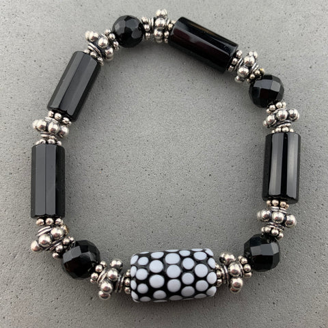 POLKA DOT  TREASURE II ~ HANDMADE GLASS BEAD BRACELET