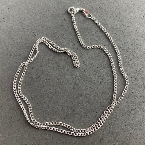CHAIN ~ 18 INCH STERLING SILVER ROLO CHAIN