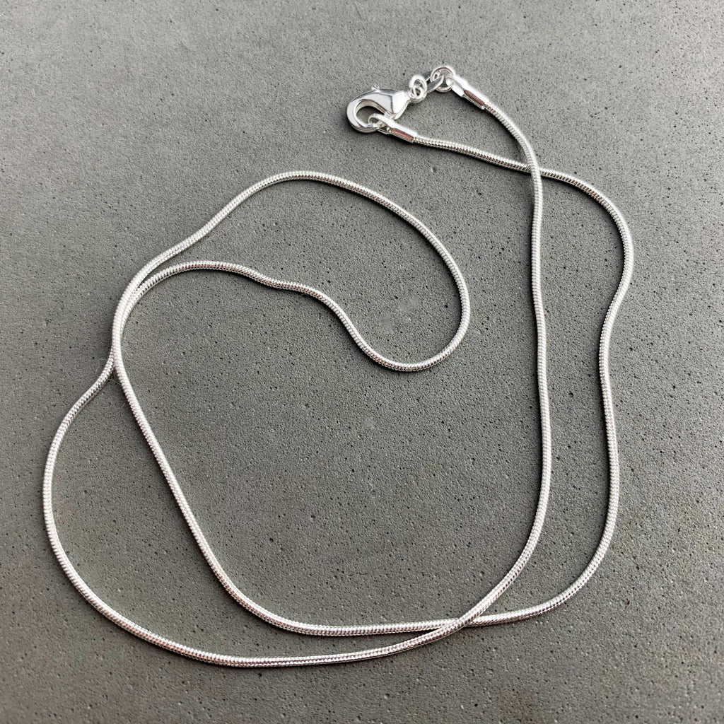 CHAIN ~ 20 INCH STERLING SILVER SNAKE CHAIN