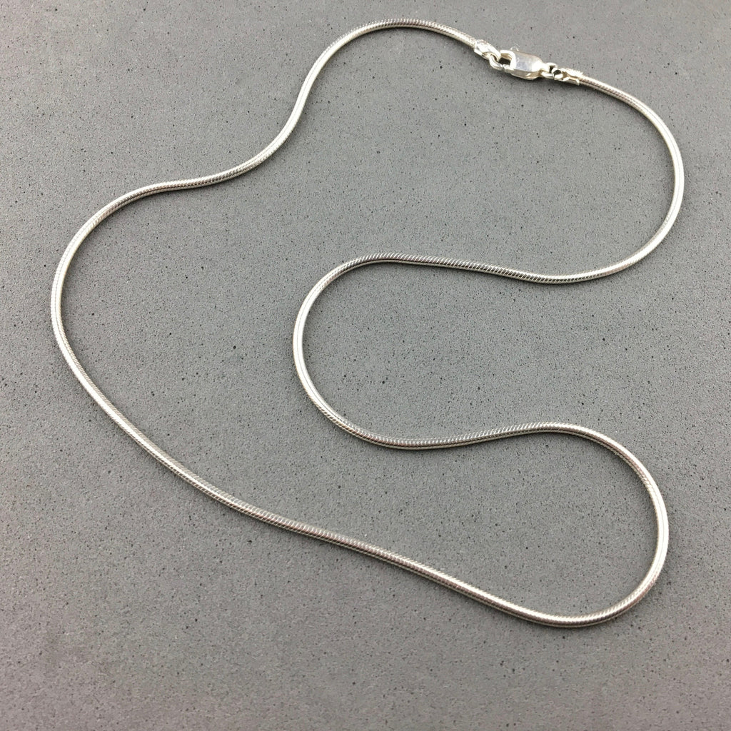 CHAIN ~ 16 INCH STERLING SILVER SNAKE CHAIN