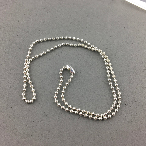 CHAIN ~ 18 INCH SILVER PLATED BALL CHAIN