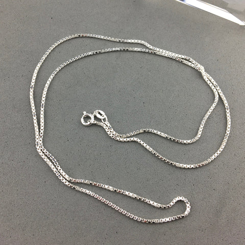 CHAIN ~ 24 INCH STERLING SILVER BOX CHAIN