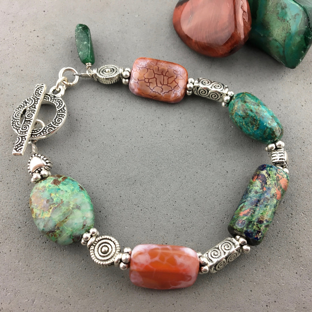 ALCHEMY ~ HANDMADE GLASS BEAD BRACELET