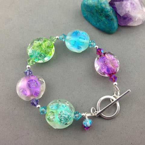 JELLY BEAN ~ HANDMADE GLASS BEAD BRACELET