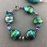 POOL PARTY ~ HANDMADE GLASS BEAD BRACELET