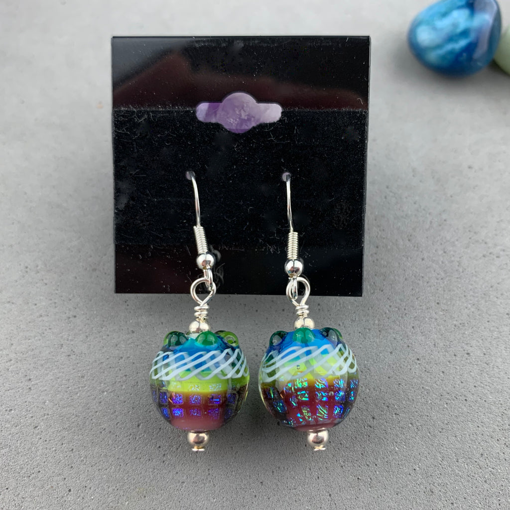 FIESTA ~ HANDMADE GLASS BEAD EARRINGS