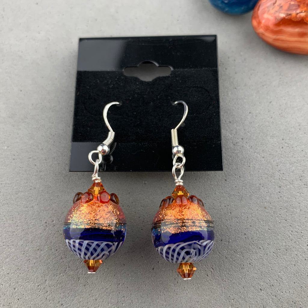 FIESTA XI ~ HANDMADE GLASS BEAD EARRINGS