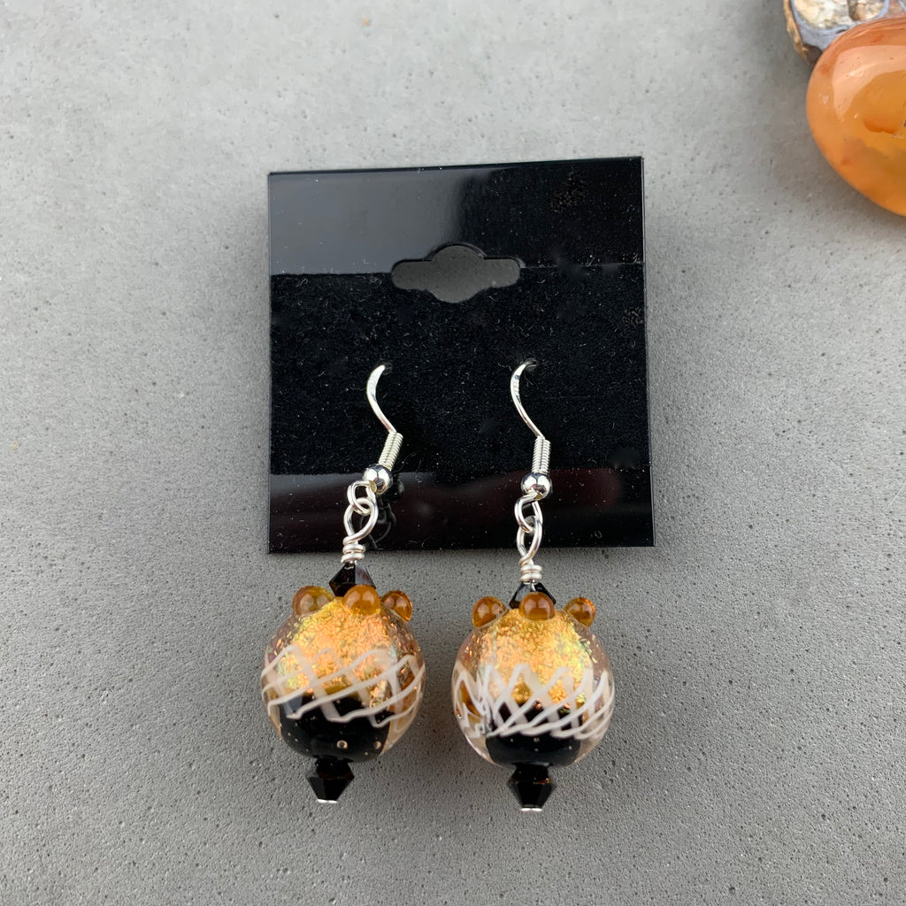 FIESTA XII ~ HANDMADE GLASS BEAD EARRINGS