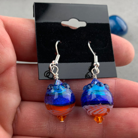 FIESTA IV ~ HANDMADE GLASS BEAD EARRINGS