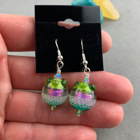 FIESTA VIII ~ HANDMADE GLASS BEAD EARRINGS