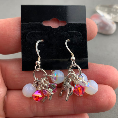 CAROUSEL PINK TREASURE EARRINGS