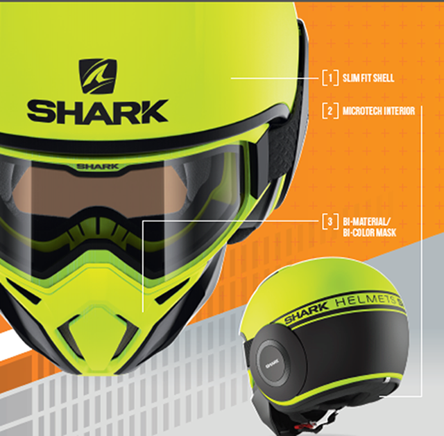 SHARK Helmets STREET-DRAK Neon Features