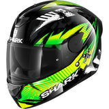 SHARK Helmets D-SKWAL 2 Penxa - BLACK / GREEN / YELLOW - Front Left