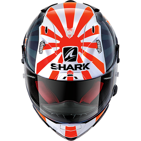 SHARK Helmets RACE-R PRO Zarco 2019 - BLUE / WHITE / ORANGE - Front