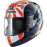 SHARK Helmets RACE-R PRO Zarco 2019 - BLUE / WHITE / ORANGE - Front Left