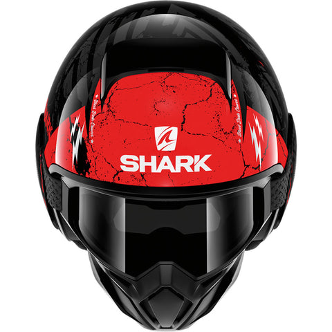 Shark Helmets STREET-DRAK Crower - BLACK / DARK GREY / RED - Front
