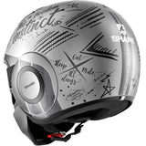 SHARK Helmets STREET-DRAK  tribute RM Matte - SILVER / DARK GREY / DARK GREY - Back Left