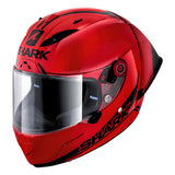SHARK Helmets RACE-R PRO GP SPOILER 30th Anniversary - RED / RED / BLACK - Front Left